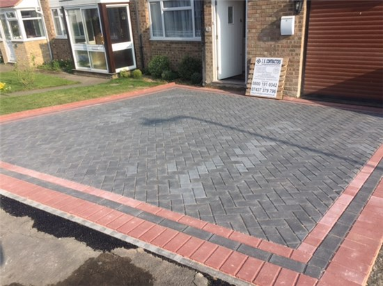 Block paving j k contractors this process ensures paving is levelled and the filling of the joints assists with the locking effect created by the paving pattern thus allowing for solutioingenieria Image collections